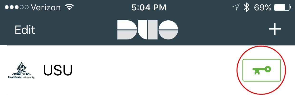 Image of Duo app key icon.