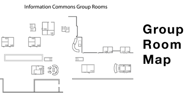 Information Commons group room map