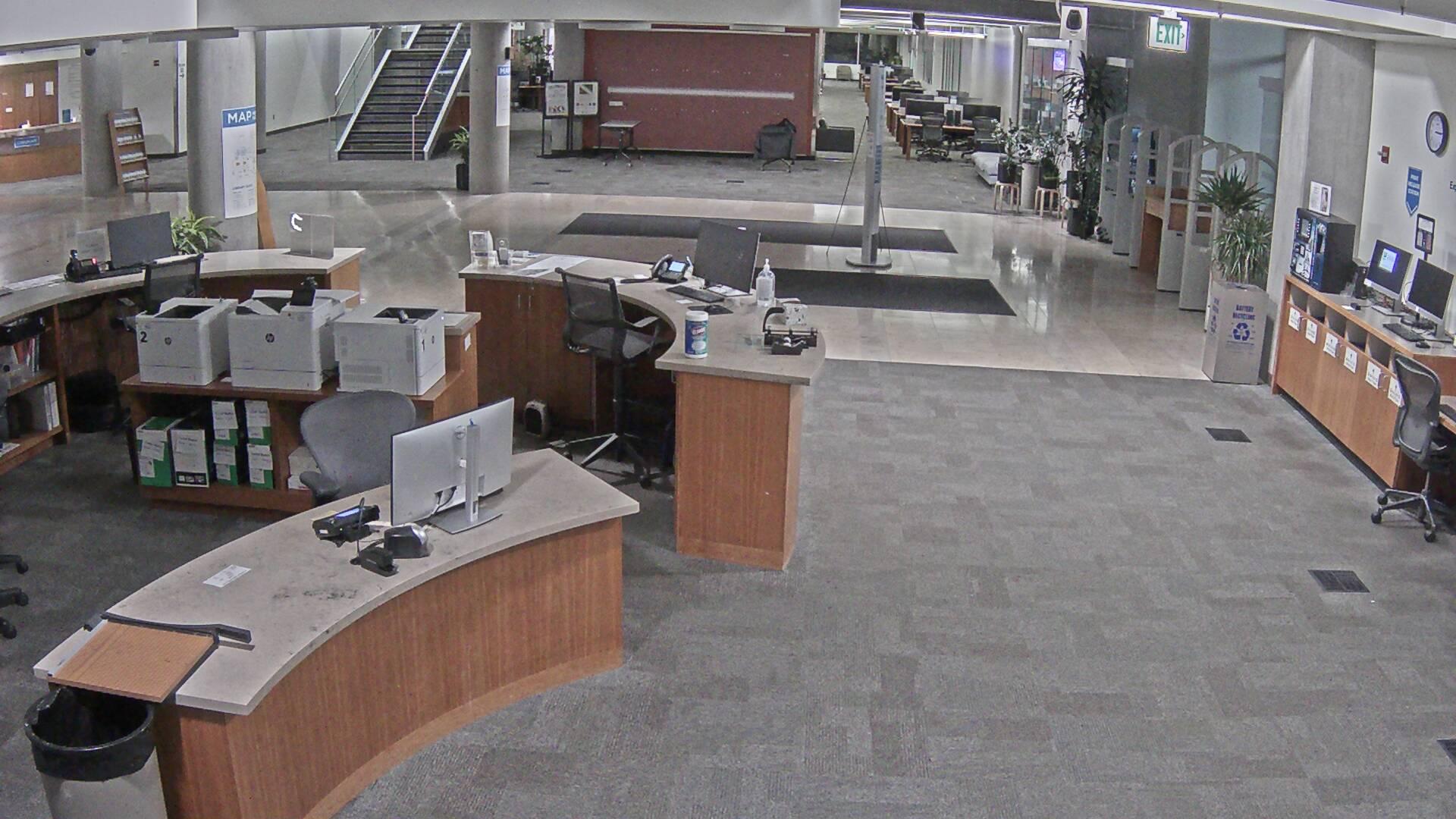 Library South entrance live camera