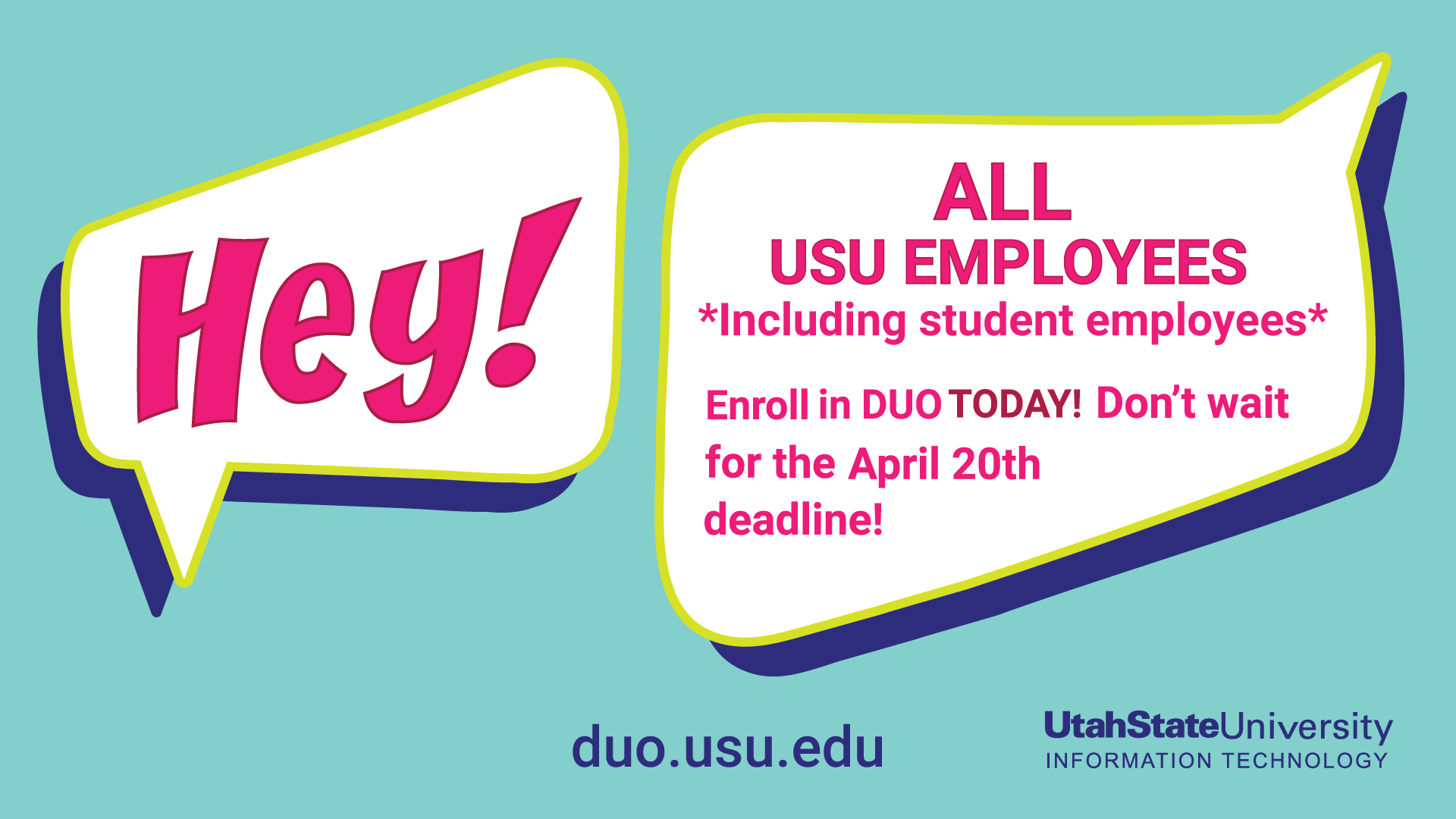 DUO for all employees deadline April 20, 2017