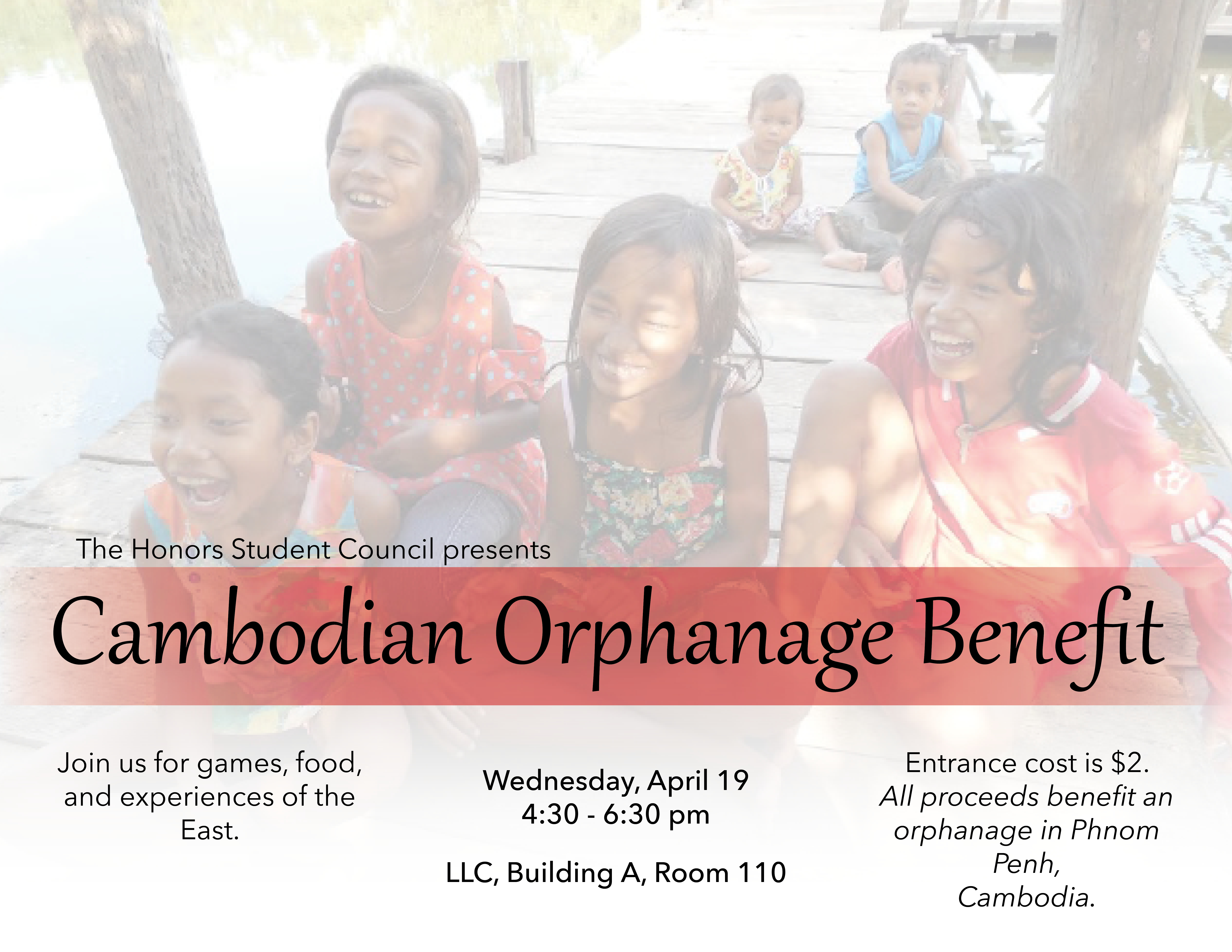 Cambodian orphange benefit April 19, 2017