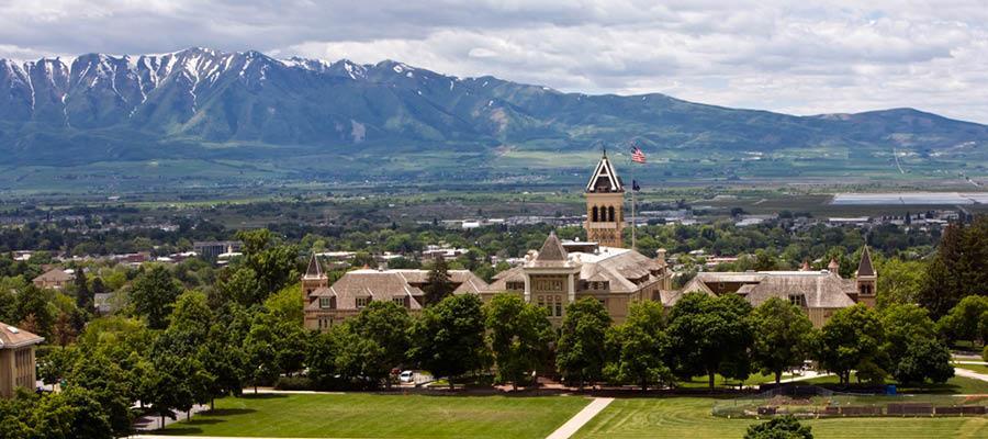 View of USU campus