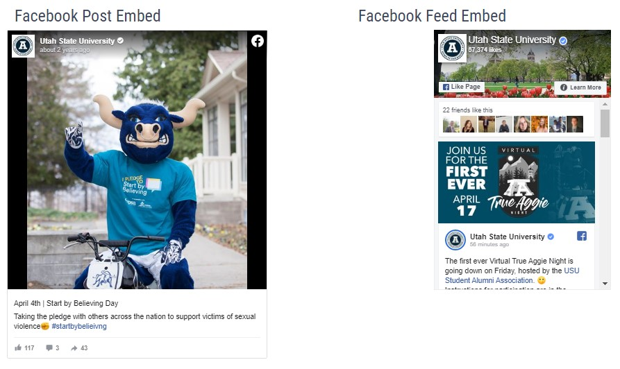 facebook embed screenshot